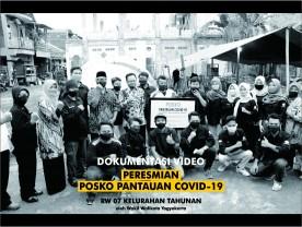 Peresmian Posko Covid-19 RW 07 Kelurahan Tahunan oleh Wakil Walikota Yogyakarta